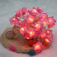 LIXADA 2.2 M LED caldo plastica rosa bianca Fata Fiore Luce della stringa con due modalità per la festa nuziale casa Decorazione natalizia L0551