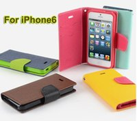 New MERCURY Wallet Leather Case for iPhone 6 Contrast Color ...