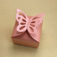 New party gift boxes butterfly shaped pearl paper favor hold...