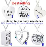 DHL de 40 + 5cm mixte 6 modèles collier pendentif l'amant de valentine 2mm chaîne cadeau collier pendentif Femmes Filles de 50cm