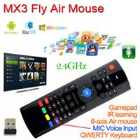 X8 MIC Voice 3 in 1 MX3 Fly Air Mouse 2. 4G Remote Control Wi...