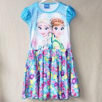 4 Color Summer Frozen fever Dresses Children Girl' s cot...