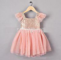 baby girl kids sequin dress sequin tutu dress lace dress pet...