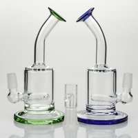 60pcs Mini Rigs Blue Green Color Glass Bong With Inline Perc...