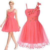 Grace Karin Beautiful Short Pink Bridesmaid Formal Dresses 2...