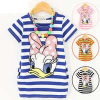 5 Color Girl Daisy Donald Duck stripe T- shirts 2015 new chil...
