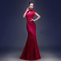 2015Lace Chinese Long Cheongsam Wedding dress for women holl...
