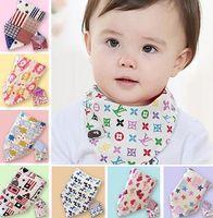 Baby Bandana Scarf Bibs Feeding Clear Triangle Cotton Kids H...