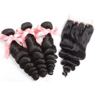 Brazilian Peruvian Hair Extensions Natural Color Loose Wave ...