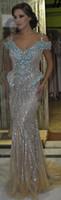 Выполненная на заказ кристалл платье выпускного вечера 2016 длины пола и кристаллическая платье партии официально платья платья свадьба