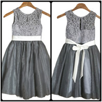 Wholesale Light Grey Flower Girl Dresses - Buy Cheap Light Grey ...