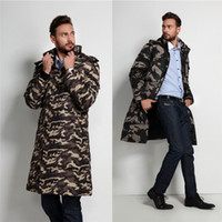 Camouflage Mens Winter Coats Warm Thicken Fur Collor Long Pa...