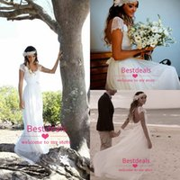 White Lace Chiffon Wedding Dresses 2015 Spring Summer Beach ...