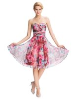 Grace Karin Floral Pattern Strapless Chiffon Summer Short Co...