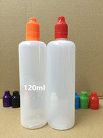 2000pcs 120ml PE Soft Bottle E Liquid Bottle With Tamper Pro...