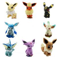 Poke plush 8 Styles 15- 20cm plush toy Glaceon Leafeon Eevee ...
