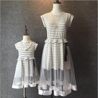 Korean Fashion Stripes Sleeveless Dresses Cotton Cap Sleeve ...