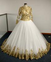 2016 Красочные Свадебные платья с шампанским золотыми блестками аппликации и просто Длинные рукава Принцесса бальное платье Часовня Поезд Свадебные платья Недвижимость