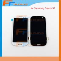 Blanc Bleu Original LCD Pour Samsung Galaxy S3 i9300 i9305 L710 R530 i535 T999 i747 avec affichage à l'écran Touch Digitizer remplacement de l'Assemblée