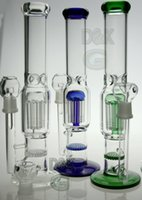 XMAS Bong en verre Deux fonction 8 bras percolateur avec un peigne de miel requinquer vente chaude bonne qualité tuyau tuyau d'eau de fumer plate-forme pétrolière 18.8mm