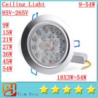 Dimmable High power Led ceiling lamp 9W 12W 15W 21W 27W 36W ...