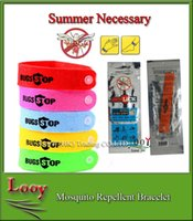 New Arrive Mosquito tueur Repoussant Band Bracelets Anti Mosquito repelant d'insectes électromagnétiques Pure Natural Baby Wristband Hand Ring