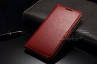 Pour S6 Galaxy Housse en cuir flip sommeil Slim grain cuir Wallet w fentes de cartes pour Samsung G920 G9200 G920F S6 étuis en cuir