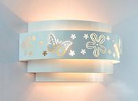 Minimalist modern fashion butterfly flower E27 wall lights w...