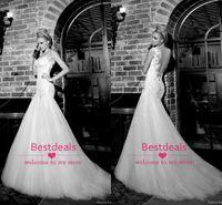2015 Lace Mermaid Wedding Dresses Galia Lahav Spaghetti Stra...