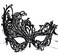 Masques de mode à la mode Masque facial de dentelle exquise pour Lady Black White Option Mode Sexy Livraison gratuite
