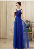 New Arrival Sexy Evening Dresses Beaded Lace A Line Long Pro...