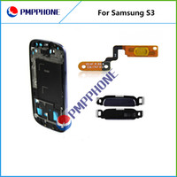 Logement Metal Frame Front Cover Bezel Pour Samsung Galaxy S3 i9300 i9305 I747 T999 i530 L710 avec homebutton touche de volume Flex