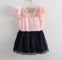 Baby girl kids cotton dress sequin dress sequined dress tutu...