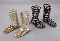 hot Girls Sandals Hollow Weave Star Flat Sandal Shoes High- b...