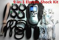 9- in- 1 Electric Shock Therapy Kit Bondage BDSM Gear Penis Ri...