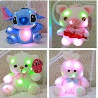 Free shipping EMS Led Plush toys 20- 25cm girls gift Stitch D...