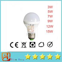 E27 3W 5W 7W 9W 12W 15W LED Bulbs 220V 230V 240V led lamp 57...