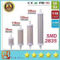 Dimmable DHL SHIP R7S LED lighting 7W 14W 20W 25W 85- 265V 78...