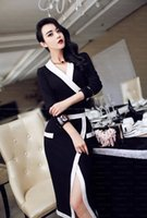 New Street Style One piece V neck Dress for women black and ...