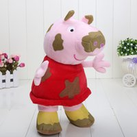30cm Big Peppa Pig plush toys mud peppa in the puddle soft s...