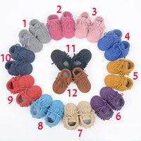 12 Color Baby Baby moccasins soft sole 100% genuine leather ...