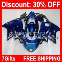 7gifts ALL Blue Full Fairing Kit For HONDA CBR1100XX 96- 03 C...