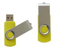 90pcs / lot la promoción 64GB pendrive USB populares lápiz de memoria Flash Drive estilo de rotación de 64 GB de disco U con DHL Fedex