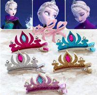 Children Beaded Solid Crown Barrttes Anna Alsa Girls Hair Ac...