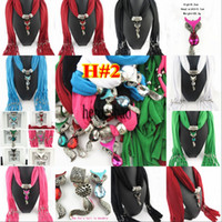 Wholesale pendant scarf long cheap scarfs necklace scarfs je...