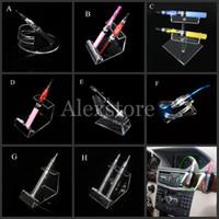 affichage cig e acrylique support clair étagère stand de voiture porte-vape pour la batterie vapeur d'ego e tuyau ecig Vaporisateur stylo mech mod mécanique e-cigarette