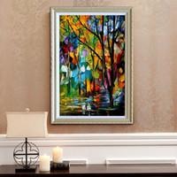 Лес 100% ручная роспись маслом современный дом украшения холст картины высокого качества палитра картины JL104