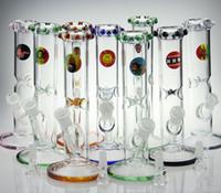 Date conduites d'eau en verre bong mélanger les couleurs de verre Ice perk nid d'abeille / anneau percolateur 5.5mm verre épais barboteur 18mm joint à 14.4mm bol