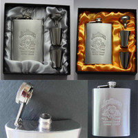 New arrival 7oz Stainless Steel Pocket Flask Gift Set Small ...