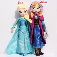 2015 Frozen 50cm Princess Elsa Plush Anna Plush Toys Doll Br...